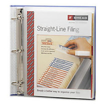 Smead Poly Three-Ring Envelope - 1.25 inch; Maximum Capacity - Ring Binder - Clear - Poly - 1 / Pack