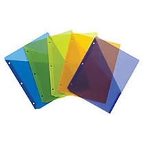 Wilson Jones; Poly Slash Jackets, 8 1/2 inch; x 11 inch;, Assorted Colors, Pack Of 5