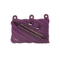 Zipit; Talking Monstar 3-Ring Pouch, 5 15/16 inch;H x 9 1/16 inch;W x 13/16 inch;D, Purple