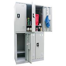 Atlantic Metal Industries Storage In A Snap Lockers, Double Tier, 3 Wide, Black