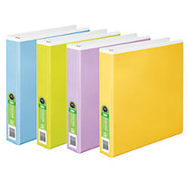 Wilson Jones; Tinted View Binder, 1 1/2 inch; Rings, 47% Recycled, Assorted Colors
