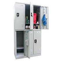 Atlantic Metal Industries Storage In A Snap Lockers, Double Tier, 3 Wide, Dove Gray