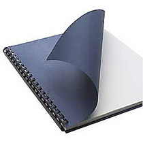 Office Wagon; Brand Linen Embossed Paper Binding Covers, 8 3/4 inch; x 11 1/4 inch;, Navy, Box Of 200