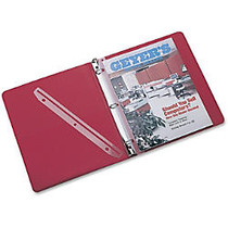Rubbermaid T02802 3-Hole Punched Plastic Edge Strip Magazine Holder - 11.6 inch; Height x 1 inch; Width - Ring Binder - Frost - Plastic - 12 / Pack