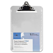 Sparco Plastic Clipboard, 8 1/2 inch; x 12 inch;, Clear