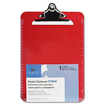 Sparco Plastic Clipboard, 8 1/2 inch; x 12 inch;, Red