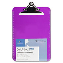 Sparco Plastic Clipboard, 8 1/2 inch; x 12 inch;, Violet