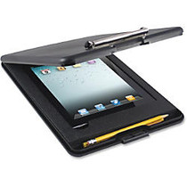 US-Works SlimMate iPad Storage Clipboard - 0.50 inch; Clip Capacity - Storage for iPad, Paper, Tablet, Stylus, Utensil - Top Opening - 9 inch; x 11.75 inch; - Low-profile - Black