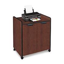 Mayline Laminate Utility Cabinet, 31 inch;H x 27 inch;W x 20 inch;D, Mahogany