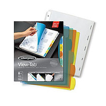 Wilson Jones; View-Tab; Transparent Dividers, 8-Tab, Square, Multicolor, Pack Of 5 Sets