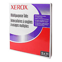 Xerox; 5100/4135 Straight Collated Copier Tabs, 3-Hole Punched, White, Box Of 50 Sets