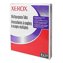 Xerox; Docutech Single Reverse Collated Copier Tabs, 3-Hole Punched, White, Box Of 50 Sets