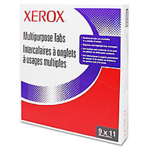 Xerox; Docutech Single Reverse Collated Copier Tabs, White, Box Of 50 Sets