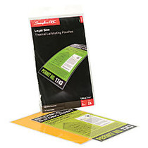 Swingline; GBC; UltraClear™ Thermal Laminating Pouches, Legal, 3 Mils, 9 inch; x 14.5 inch;, Pack Of 25