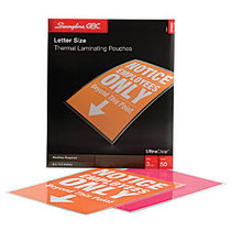 Swingline; GBC; UltraClear™ Thermal Laminating Pouches, Letter, 3 Mils, 9 inch; x 11.5 inch;, Pack Of 50