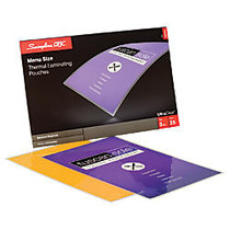 Swingline; GBC; UltraClear™ Thermal Laminating Pouches, Menu Size, Clear, Pack Of 25