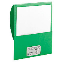 Smead; Textured Stackit Folders, Letter Size, 10% Recycled, 100-Sheet Capacity, Green, Pack Of 10