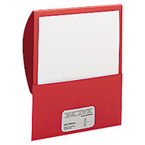 Smead; Textured Stackit Folders, Letter Size, 10% Recycled, 100-Sheet Capacity, Red, Pack Of 10