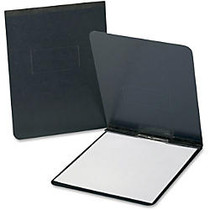 TOPS Leather-grain Pressboard Report Cover - Legal, Letter - 8 1/2 inch; x 14 inch;, 8 1/2 inch; x 11 inch; Sheet Size - 2 x Prong Fastener(s) - 2 inch; Fastener Capacity for Folder - Pressguard - Black - 1 / Each