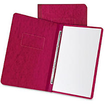 TOPS Pressboard Report Cover - 3 inch; Folder Capacity - Letter - 8 1/2 inch; x 11 inch; Sheet Size - 2 Fastener(s) - 20 pt. Folder Thickness - Pressboard - Executive Red - 1 / Each