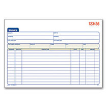 Adams™ 3-Part Carbonless Invoice Book, 8 7/16 inch; x 5 9/16 inch;, White/Canary/Pink, 50 Sets