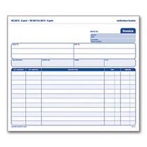 Adams™ 3-Part Carbonless Invoice Form Unit Set, 8 1/2 inch; x 7 7/16 inch;, White/Canary/Pink, Pack Of 50 Sets