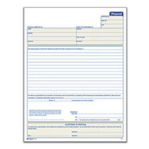 Adams™ Proposal Book, 8 3/8 inch; x 11 inch;, 1 Part With Carbons, White, 50 Sheets