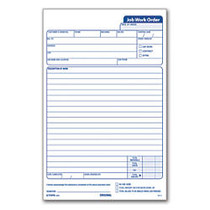 TOPS; Triplicate Carbonless Job Work Orders, 5 1/2 inch; x 8 1/2 inch;, Pack Of 50 Forms