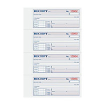 TOPS™ Manifold Receipt Book, 3-Part, 8 1/2 inch; x 11 inch;, Canary/Pink/White