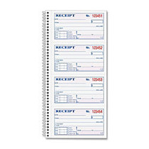 TOPS™ Money/Rent Receipt Book, 2-Part, 5 1/2 inch; x 11 inch;, White/Canary