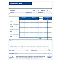 ComplyRight™ Weekly Timesheets, Pack Of 50