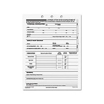 Rediform Employment Application Form - 50 Sheet(s) - Stapled - 1 Part - 11 inch; x 8.50 inch; Sheet Size - 3 x Holes - White Sheet(s) - Recycled - 50 / Pad