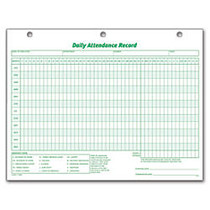 TOPS; Daily Attendance Record, 8 1/2 inch; x 11 inch;, Pack Of 50
