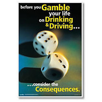ComplyRight Substance Abuse Poster, Drinking & Driving, English, 15 inch; x 22 inch;