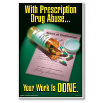 ComplyRight Substance Abuse Poster, Prescription Drug, English, 15 inch; x 22 inch;