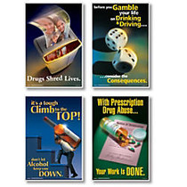 ComplyRight Substance Abuse Posters, English, 15 inch; x 22 inch;, Set Of 4