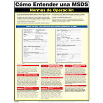 ComplyRight; Understanding A MSDS Poster, 18 inch; x 24 inch;, Spanish