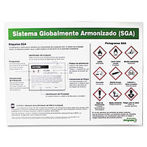 Impact Products GHS Label Guideline Spanish Poster - 24 inch; Width x 18 inch; Height - Assorted