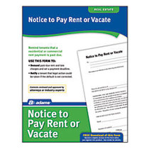 Adams; Notice To Pay Rent Or Quit