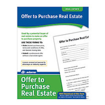 Adams; Offer To Purchase Real Estate