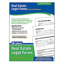 Adams; Real Estate Legal Forms Kit, 8 1/2 inch; x 11 inch;