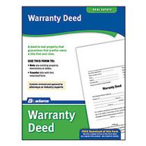 Adams; Warranty Deed