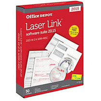 Office Wagon; Brand 6-Part W-2 & 4-Part 1099 Form And LaserLink Software Sets, 2015, Pack Of 50