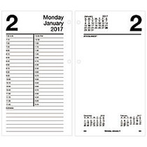 AT-A-GLANCE; Large Daily Desk Calendar Refill, 4 1/2 inch; x 8 inch;, January-December 2017