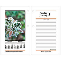 AT-A-GLANCE; Photographic Desk Calendar Refill, 3 1/2 inch; x 6 inch;, 30% Recycled, White, January-December 2017