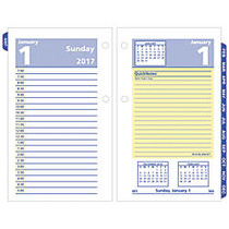 AT-A-GLANCE; QuickNotes; 30% Recycled Desk Calendar Refill, 3 1/2 inch; x 6 inch;, January-December 2017