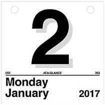 AT-A-GLANCE; Today Is Daily Calendar Refill, 6 inch; x 6 inch;, 1 Page Per Day, January-December 2017