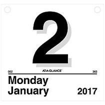 AT-A-GLANCE; Today Is Daily Calendar Refill, 8 1/2 inch; x 8 inch;, 1 Page Per Day, January-December 2017