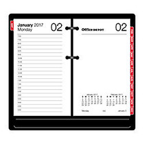 Office Wagon; Brand Daily Desk Calendar Refill, 3 1/2 inch; x 6 inch;, January to December 2017