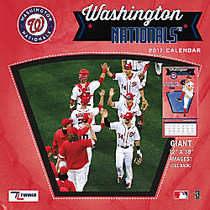 Turner Licensing; Team Wall Calendar, 12 inch; x 12 inch;, Washington Nationals, January to December 2017